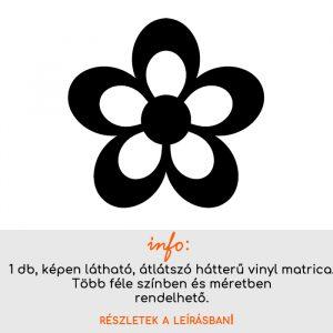 Több méretben és színben virág matrica 5, csempematrica, villanykapcsoló matrica, laptop matrica, hűtő matrica, autómatrica