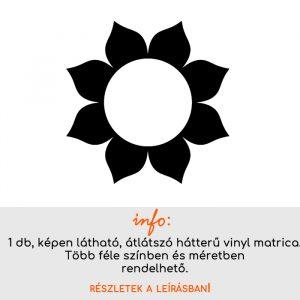 Több méretben és színben virág matrica 6, csempematrica, villanykapcsoló matrica, laptop matrica, hűtő matrica
