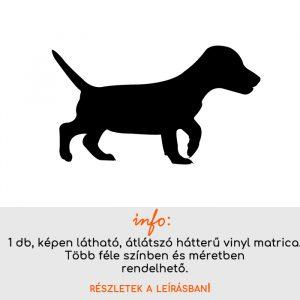Több színben és méretben kutya matrica 2., villanykapcsoló matrica, állatos matrica