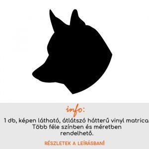 Több színben és méretben kutya matrica 3., villanykapcsoló matrica, állatos matrica