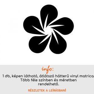Több színben és méretben virág matrica 2., villanykapcsoló matrica, csempematrica