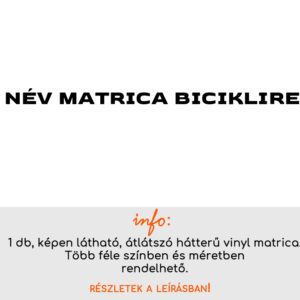 Több színben név matrica bicikli matrica