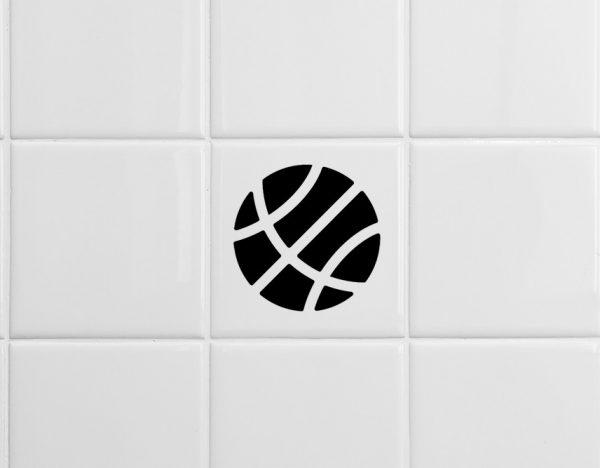 több színben és méretben csempematrica kosárlabda látványterv