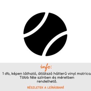több színben és méretben csempematrica teniszlabda