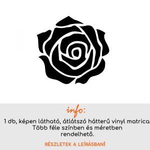 Több színben és méretben rózsa matrica 2., virág matrica, konyhai csempematrica, laptop matrica