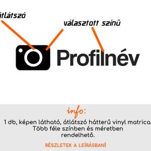 instagram név matrica több színben és méretben