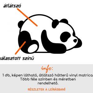 több méretben és színben panda matrica 1., villanykapcsoló matrica, csempematrica, laptop matrica