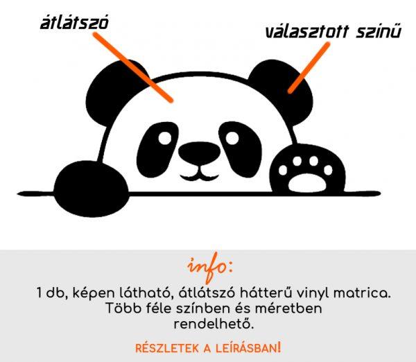 több méretben és színben panda matrica 2., villanykapcsoló matrica, csempematrica, laptop matrica