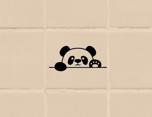 több méretben és színben panda matrica 2., villanykapcsoló matrica, csempematrica, laptop matrica látványterv 1