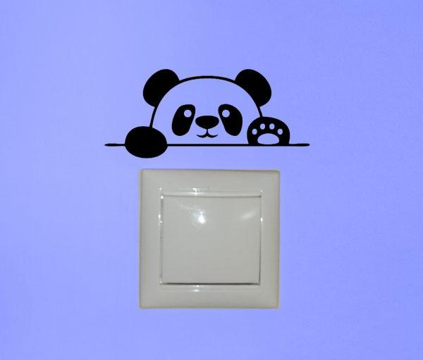 több méretben és színben panda matrica 2., villanykapcsoló matrica, csempematrica, laptop matrica látványterv 2