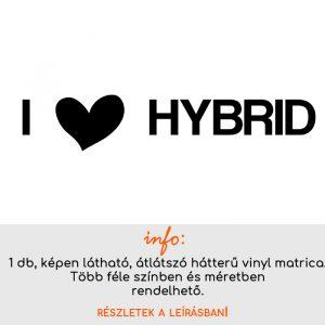 I love hybrid matrica, autómatrica, laptop matrica